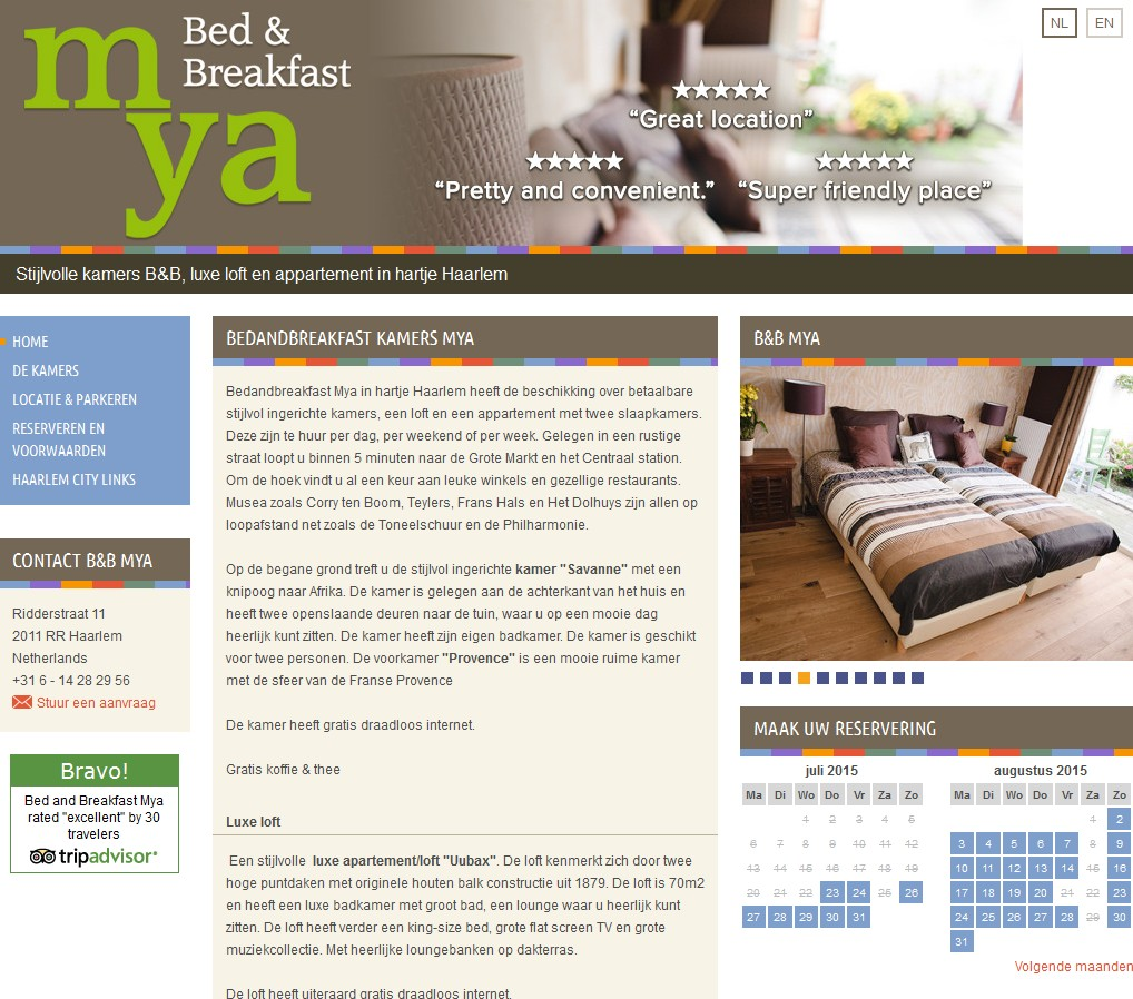bed and breakfast mya haarlem